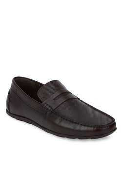 Red Tape Dark Brown Formal Loafers