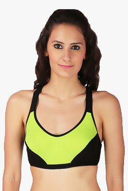 Urbaano Fluorescent Green Non Wired Padded Sports Bra