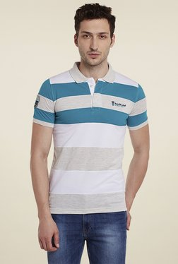 Duke Blue & White Smart Fit Polo T-Shirt