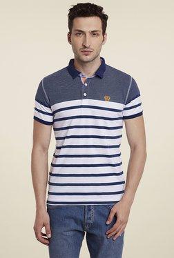Duke Navy & White Half Sleeves Polo T-Shirt