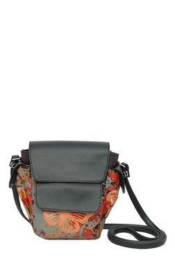 Baggit MP Hope Hyper Red & Black Printed Sling Bag