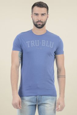 Pepe Jeans Blue Round Neck Slim Fit T-Shirt