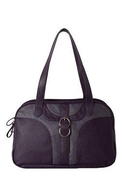 Baggit L Trace N Stella Purple & Grey Duffle Shoulder Bag