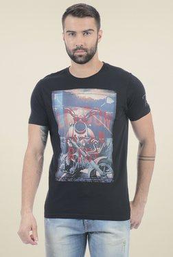 Pepe Jeans Black Slim Fit Printed T-Shirt
