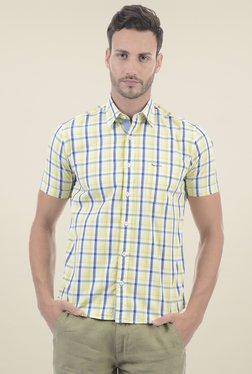 Pepe Jeans Yellow Half Sleeves Regular Fit Shirt