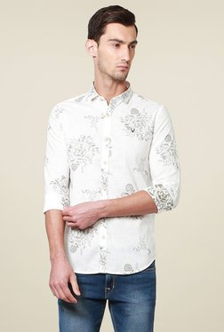Allen Solly White Button Down Collar Shirt