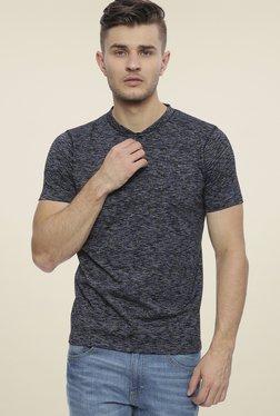 Basics Navy Slim Fit Henley T-Shirt