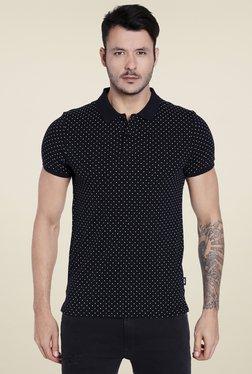 Jack & Jones Navy Printed Slim Fit Polo T-Shirt