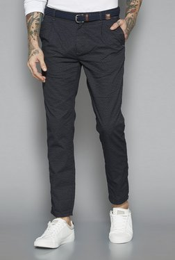 ETA By Westside Black Slim Fit Chinos With Belt