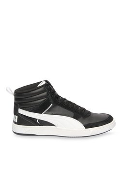 Puma Rebound Street V2 Black & White Ankle High Sneakers
