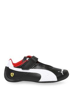 5642d52b19d864 Puma Kids Ferrari SF Future Cat V PS Black   White Velcro Shoes