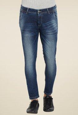 Spykar Blue Lightly Washed Slim Fit Jeans