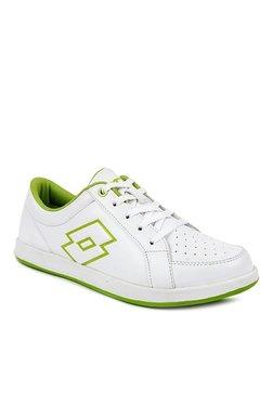 bce53964fd03 Lotto Logo Plus White   Lime Green Sneakers