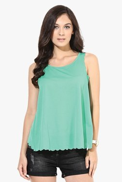Only Green Round Neck Tank Top