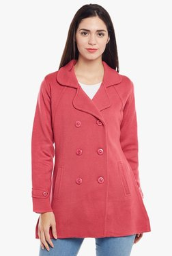 Cayman Peach Full Sleeves Wool Coat - Mp000000001916630