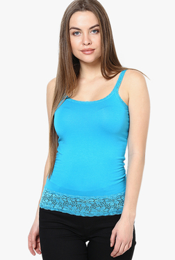 Only Blue Lace Skinny Fit Tank Top