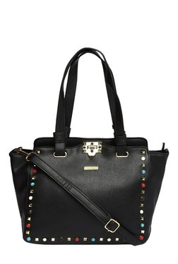 Toniq Black Edge Of Gem Embellished Shoulder Bag