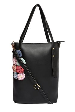 Toniq The Winter Bouquet Black Corsage Shoulder Bag