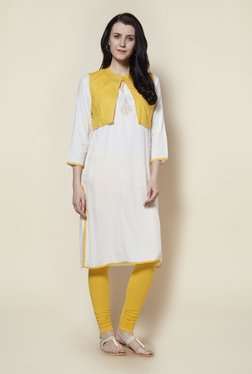 Zudio Off White Kurta With Jacket