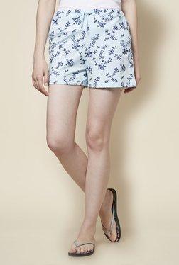 Zudio Light Blue Comfort Fit Shorts