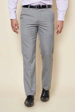 Zudio Light Grey Slim Fit Trousers