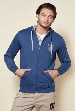Zudio Indigo Melange Regular Fit Sweatshirt