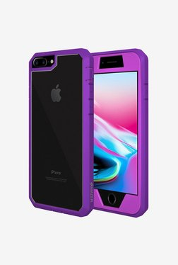 Amzer Full Body Hybrid Case Protective Back Cover Purple For IPhone 8 Plus