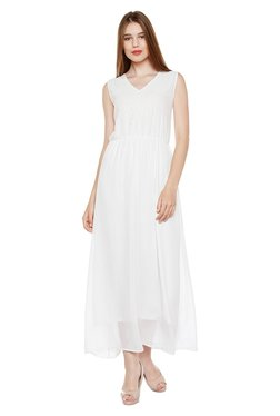 Oxolloxo Off White Embroidered Maxi Dress