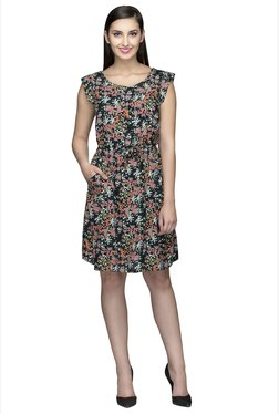Oxolloxo Multicolor Floral Print Above Knee Dress