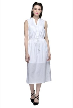 Oxolloxo White Midi Dress