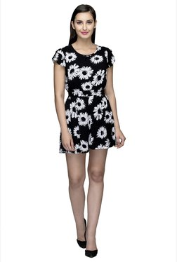 Oxolloxo Black Floral Print Playsuit