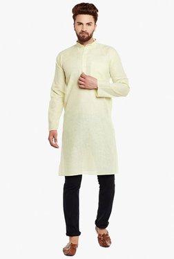 Sojanya Lime Green Full Sleeves Cotton Kurta