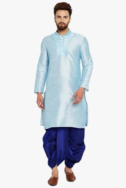 Sojanya Aqua Blue & Royal Blue Regular Fit Kurta Set