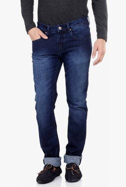 Red Tape Indigo Lightly Washed Slim Fit Jeans