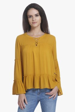 Only Mustard Full Sleeves Top