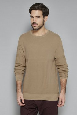 ETA By Westside Beige Slim Fit T-Shirt