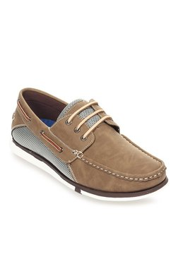 Pavers England Brown & Grey Boat Shoes