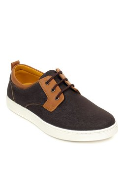 Pavers England Dark Brown & Tan Derby Shoes