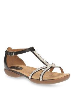 caa7161af Clarks Raffi Star Black T-Strap Sandals