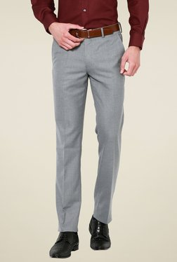 Van Heusen Light Grey Slim Fit Flat Front Trousers