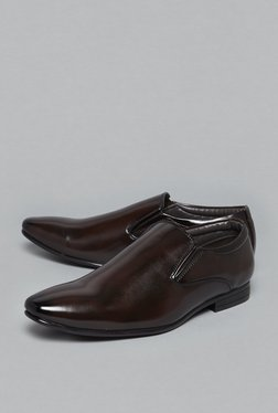 SOLEPLAY By Westside Brown Slip-On Derby Shoes