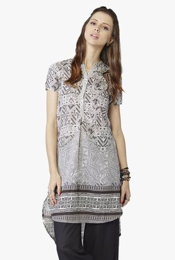 Global Desi Brown Printed Tunic