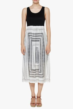 AND Black & White Printed Midi Dress