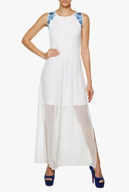 AND White Regular Fit Maxi Dress