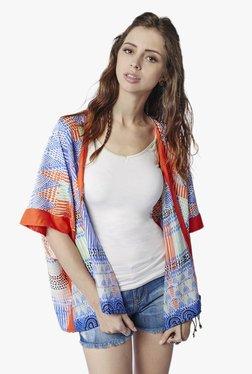 Global Desi Multicolor Printed Kimono Jacket