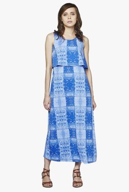 AND Blue Floral Print Midi Dress