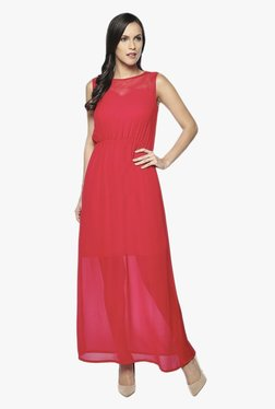 AND Red Regular Fit Maxi Dress
