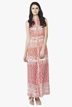 AND Red Printed Maxi Dress