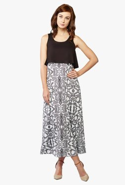 AND Black & White Printed Maxi Dress