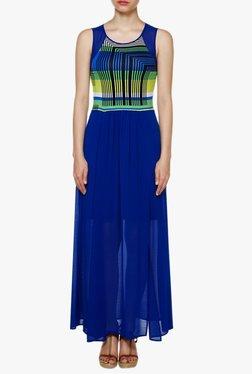 AND Dark Blue Printed Maxi Dress